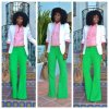 FASHION FRIDAY: Preppy Pink and Green Look